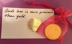 God's love is more precious than gold.