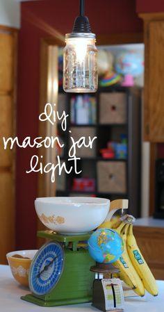 Home / DIY mason jar pendant light - CotCozy Mason Jar Pendant Light, Diy Mason Jar Lights, Mason Jar Lighting, Mason Jar Crafts, Mason Jar Diy, Diy Jars, Good Tutorials, Looks Vintage, The Ranch