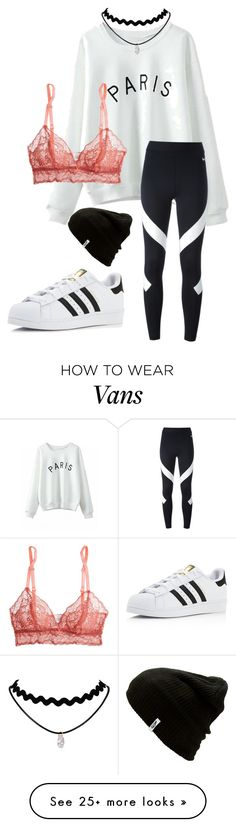 """""""Monochrome"""" by denice-rose on Polyvore featuring Eberjey, Vans, NIKE and adidas"""