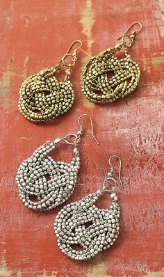 Knot earrings.