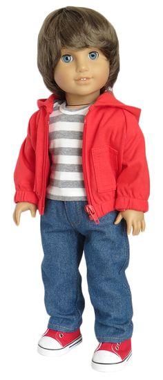 Boy Doll Clothes, Doll Clothes Patterns, Doll Patterns, American Boy Doll, American Girl Clothes, Girl Dolls, Baby Dolls, 18 Inch Boy Doll, Journey Girls
