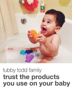 Safe bubbles for your babies. #tubbytodd #allnatural