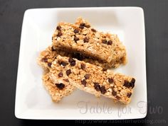 Homemade granola bars - these were so quick to assemble!!  It's a shame to buy them when you can make fresher and slightly healthier (no HFCS) alternatives!  The kids will love them!