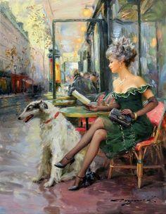 Konstantin RAZUMOV Belle et son chien