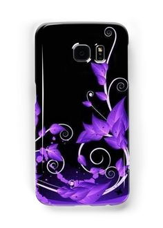 Leafy Purple Vines | Snap Cases,Tough Cases, & Skins for Galaxy S3-S4-S5-S6-S6 Edge-S6 Edge Plus-S7-S7Edge | iPhone 4s/4 5c/5s/5 6/6Plus SE/5s/5 & iPhone Wallets **All designs available for all models.
