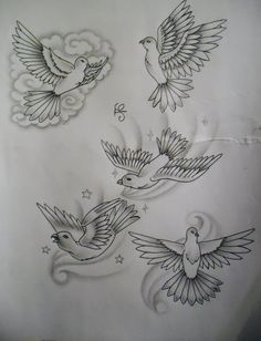 dove tattoo design by tattoosuzette on @DeviantArt