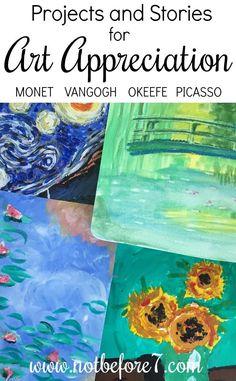 Art Appreciation Through Projects and Stories – Homeschooling with Mary Hanna Wilson - Illustration and Art Education Art History Lessons, Art Lessons, Programme D'art, Classe D'art, 7 Arts, Arte Van Gogh, Ecole Art, Art Curriculum, Art Courses
