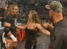 Stephanie McMahon slaps Stone Cold Steve Austin - Raw 2001 Stephanie Mcmahon, Steve Austin, Mcmahon Family, Wwe S, Stone Cold Steve, Triple H, Wwe Divas, Superstar, Champion