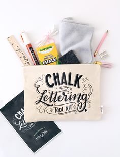 it still hasn't quite sunk in that the Chalk Lettering Tool Kit was the winner of the best new product award at National Stationery Show! Power Tool Set, Lily And Val, Chalk Ink, Chalkboard Print, Chalk Lettering, Leather Tassel, Diy Kits, Tool Kit, Totes