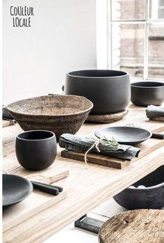Black Ceramics by Nelson Sepulveda - Kitchen - Home Accessories - Best ideas Ceramic Clay, Ceramic Pottery, Wabi Sabi, Home Decor Accessories, Decorative Accessories, Accessories Shop, Earthenware, Stoneware, Keramik Design