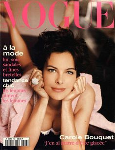 Film and the covers of Vogue Paris: Carole Bouquet on the May 1994 cover of Vogue Paris