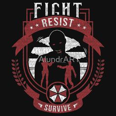 Resident Evil, Umbrella Corporation, Beer Label, Crests, Classic T Shirts, Shirt Designs, Finding Yourself, Survival, Darth Vader