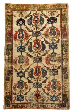 East Caucasian Palmette rug   17th / 18th century    6 ft. 8 in. x 3 ft. 7 in.  - FREEMAN'S