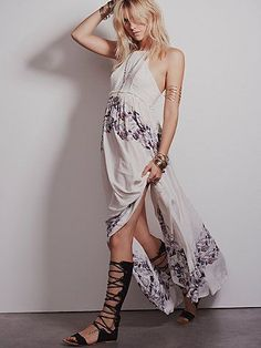 Intimately High Neck Printed Maxi at Free People Clothing Boutique Boho Dress, Dress Skirt, Dress Outfits, Fashion Dresses, Floral Print Skirt, Free People Dress, Playing Dress Up, Unique Fashion, Cute Dresses