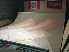 My mini ramp, Stanley, 2007. 4 feet high, 16ft wide, 7 foot transitions. Now at Dynamix, Gateshead.