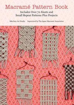 Helps you learn how to make over seventy macrame knots and small repeat patterns, and then use them to create a wide range of projects. In this title, each knot is shown in a close-up photograph with clear step-by-step diagrams showing how they are tied.