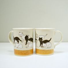 Cat Mugs - Someone buy these so I don't.