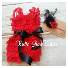 Lil Ladybug inspired Lace Romper and by Kutiebowtuties on Etsy First Birthday Pictures, First Birthday Themes, Baby 1st Birthday, 1st Birthday Parties, First Birthdays, Birthday Ideas, Baby Olive, Girly Things, Girly Stuff