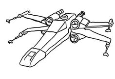 Star Wars Coloring Pages In A Galaxy Far Far Away X Wing