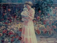 I love painting Mothers and their children .Nothing is as sweet and loving .B