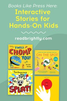 If your child is a fan of PRESS HERE, then they're sure to love these 10 interactive books that make the reader feel like they're controlling the action on the page. New Books, Good Books, Early Head Start, Magic Fingers, Beloved Book, Interactive Stories, Wreck This Journal, Old Love, Book Lists