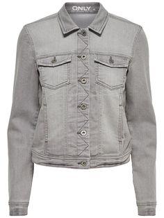 GREY DENIM JACKET, Grey Denim, large Denim Button Up, Button Up Shirts, Grey Denim Jacket, Grey Outfit, Models, Jackets For Women, How To Wear, Outfits, Tops