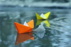 Colorful Paper Boats Wallpaper (15503) - Wallpaperesque