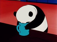Go, panda! Panda Love, Cute Panda, Panda Bear, Le Vent Se Leve, Anime Gifs, Panda Funny, Bear Wallpaper, Ghibli Movies, We Bare Bears