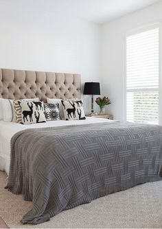 What a pretty bedroom! Neutrals make a space comforting and classic. {Image: Elouise van Riet-Gray}