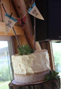 Colorado Mountain Wedding - Succulents, Burlap, Rustic Cupcake Stand - 2013