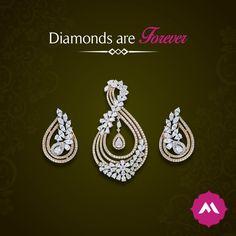 Diamond set pendant earrings