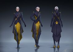 ArtStation - Costume design, Anastasia Bulgakova - Characters might wear something like this at parties. Female Character Design, Character Design Inspiration, Character Concept, Character Art, Concept Art, Expression Face, Marvel Dc, Future Clothes, Cyberpunk Art
