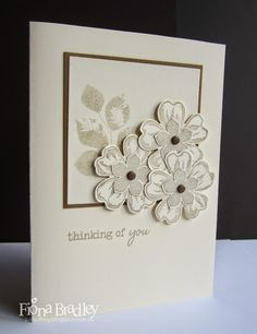 Thinking of you - Flower Shop/Pansy Punch/Petite Petals/Kinda Eclectic - Stampin' Up! - Just Spiffing by Fiona Bradley