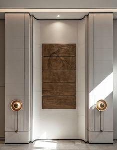 Gemdale · Casa Oia Sales Center - Picture gallery Lobby Interior, Interior Walls, Interior Design Kitchen, Modern Interior Design, Interior Architecture, H Design, Wall Design, House Design, Design Trends