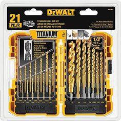 DEWALT DW1361 Titanium Pilot Point Drill Bit Set, 21-Piec...