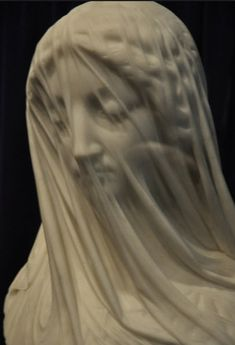 The Veiled Virgin - Italian sculptor Giovanni Strazza statue was executed in flawless Carrera marble by the renowned Italian sculptor Giovanni Strazza in Rome. Rennaissance Art, Italian Statues, Italian Sculptors, Marble Art, Carrara Marble, Renaissance Paintings, Installation Art, New Art, Art History
