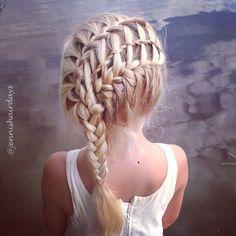 waterfall braid, waterfall twist, french braid...