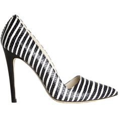 Alice + Olivia Dina Too Streak Snake Embossed Heel ($130) ❤ liked on Polyvore featuring shoes, pumps, alice olivia shoes, sexy pumps and sexy shoes