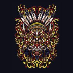Careers Tattoo Drawings, Art Drawings, Samurai Wallpaper, African Art Projects, Design Kaos, Pinstripe Art, Indonesian Art, Batik Pattern, Dream Tattoos