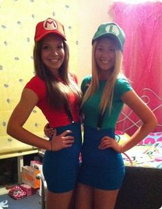 cute costumes for best friends disney - Yahoo Image Search results  sc 1 st  Pinterest & mario and luigi girl costumes friends - Google Search | Halloween ...