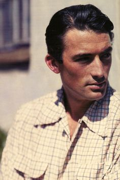Gregory Peck, one of the handsomest men of all time. They don't make them like him anymore