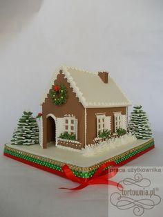 Domek+z+piernika+-+tort+w+galerii+prac+użytkowników+www.tortownia.pl