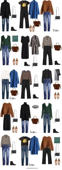 Travel Outfit Spring, Travel Packing Outfits, Packing Clothes, Spring Outfits, Winter Outfits, Casual Outfits, Travel Capsule, Travel Wardrobe, Paris Packing