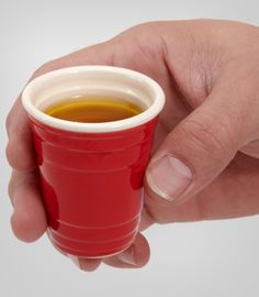 Red Solo Cup Shot Glass ((OMG I want!))