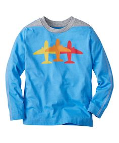 Look what I found on #zulily! Bluest Sky Airplane Getting There Tee - Infant, Kids & Tween by Hanna Andersson #zulilyfinds