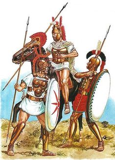Samnite, Campanian and Lucanian warriors. In a number of legendary battles, the Romans defeated the Latin League, taking away the sovereignty of its tribal states, who subsequently assimilated to Rome.