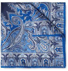 Etro - Paisley-Print Silk Pocket Square
