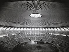 Pier Luigi Nervi e Marcello Piacentini, palazzo dello Sport all'EUR a Roma (1955-59) Collezione MAXXI Architettura. Archivio Pier Luigi Nervi.