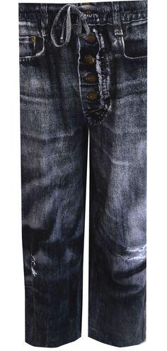 WebUndies.com Your Old Worn Out Favorite Jeans Black Wash Lounge Pants
