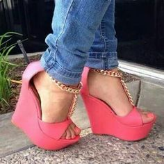 Nice coral shoes